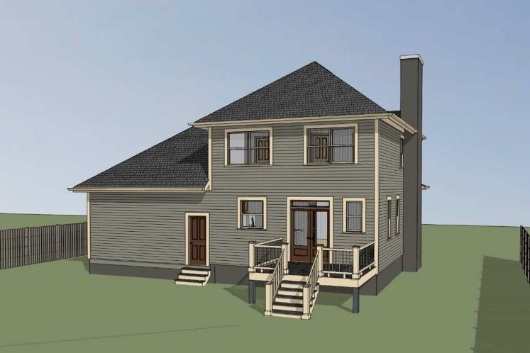 Country House Plan -  50103 - Left Exterior