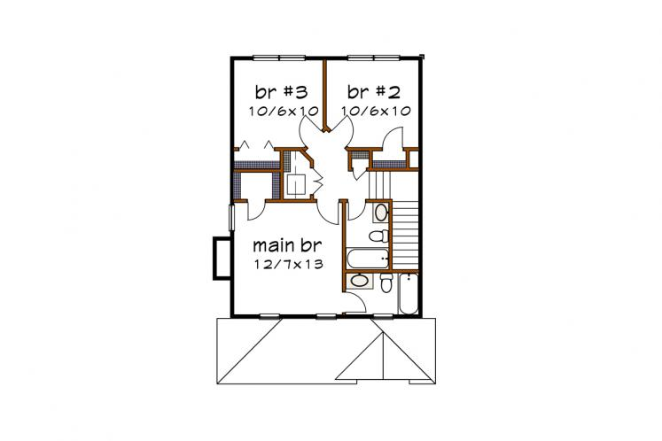 Country House Plan -  50103 - 2nd Floor Plan