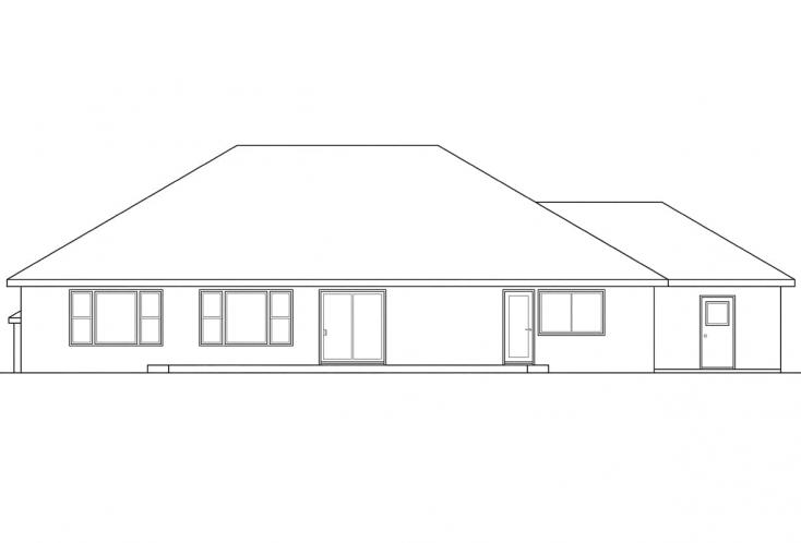 Southwest House Plan - Northrop 50239 - Right Exterior