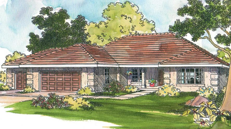 Southwest House Plan - Northrop 50239 - Front Exterior