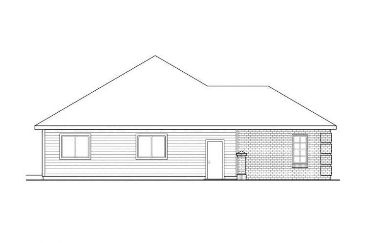 Ranch House Plan - Lewiston 50412 - Left Exterior