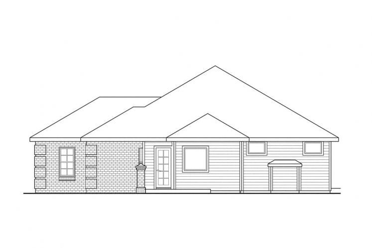 Southern House Plan - Lewiston 50412 - Right Exterior