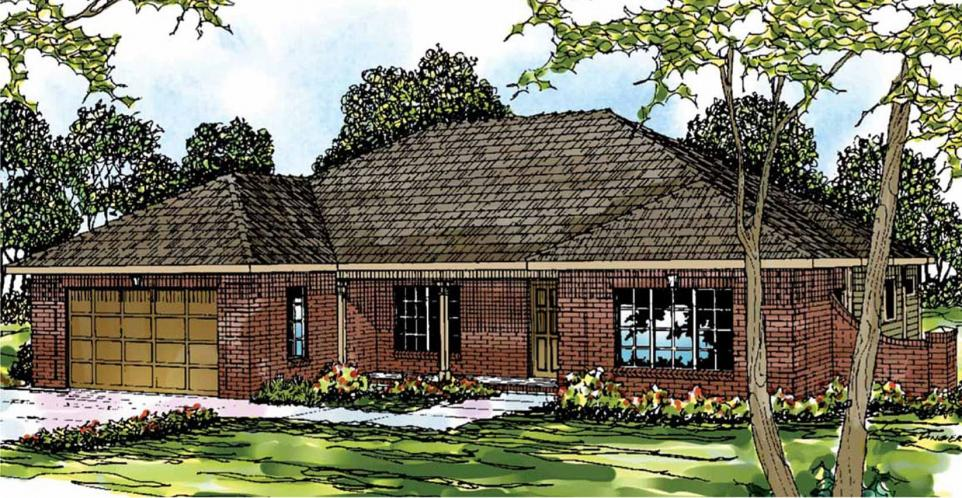 Southern House Plan - Lewiston 50412 - Front Exterior