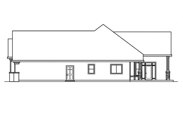 Ranch House Plan - Rosemont 50465 - Right Exterior