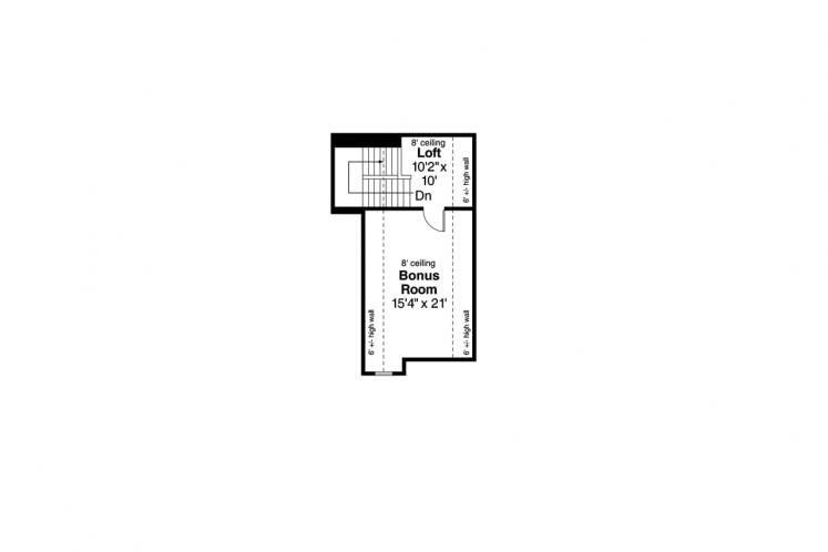Traditional House Plan - Rosemont 50465 - 2nd Floor Plan