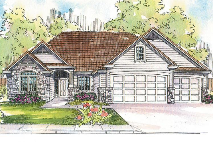 Ranch House Plan - Rosemont 50465 - Front Exterior