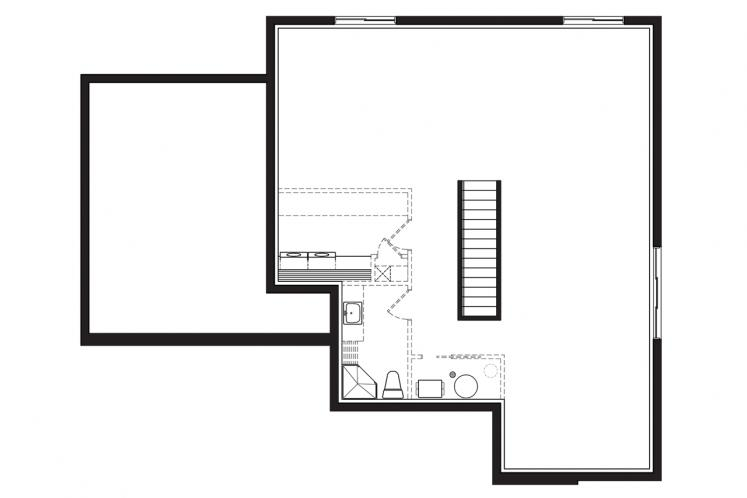 Contemporary House Plan - Camille 2 50595 - Basement Floor Plan