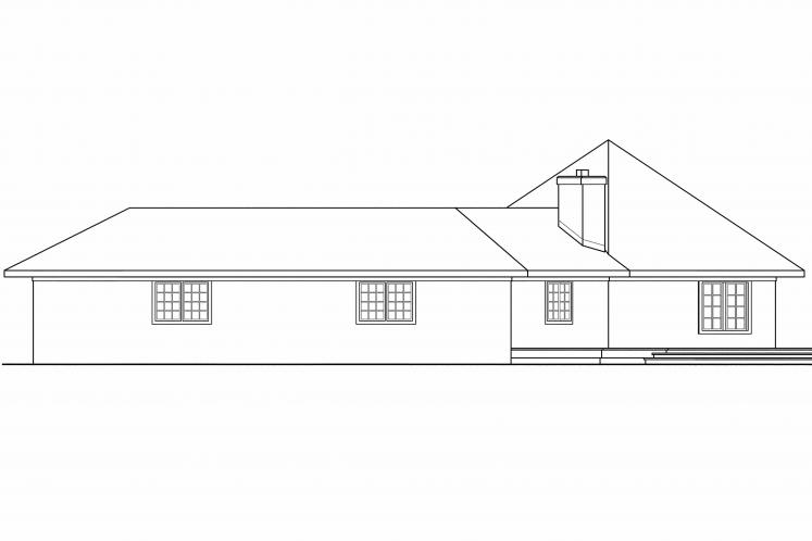 Southwest House Plan - Sonora 50711 - Right Exterior