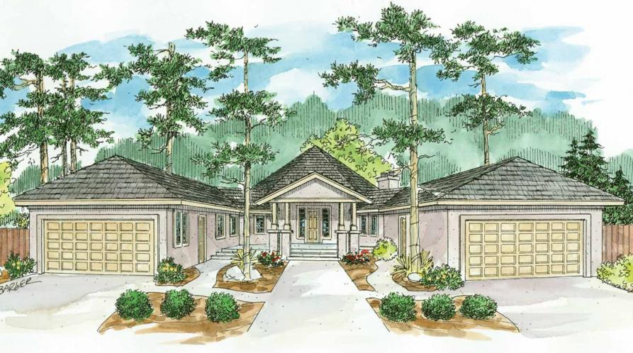Southwest House Plan - Sonora 50711 - Front Exterior