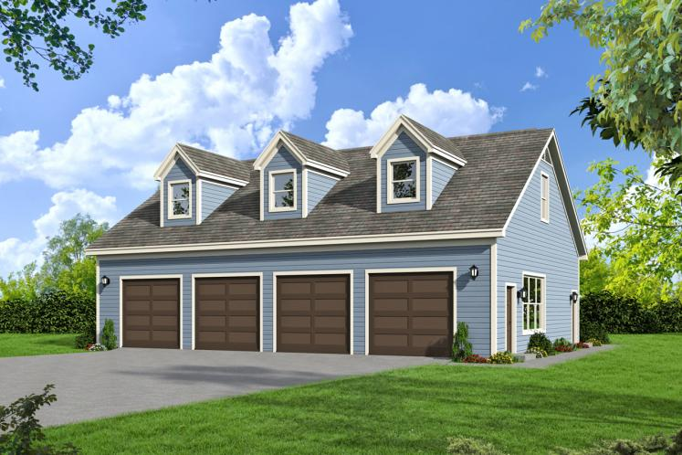 Country Garage Plan -  50854 - Front Exterior