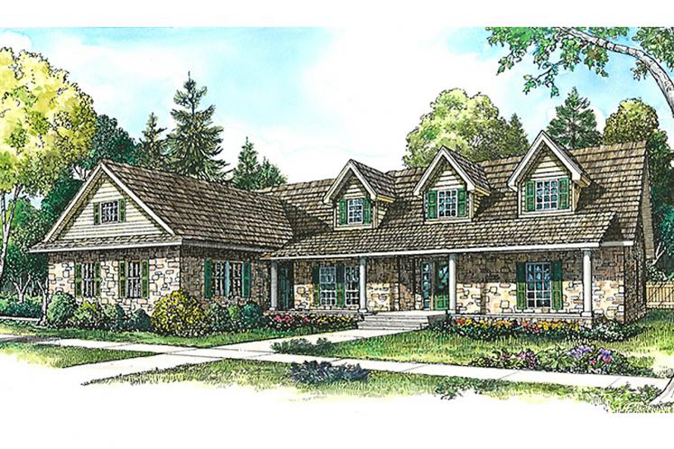 Country House Plan - Kingsbury 50882 - Front Exterior