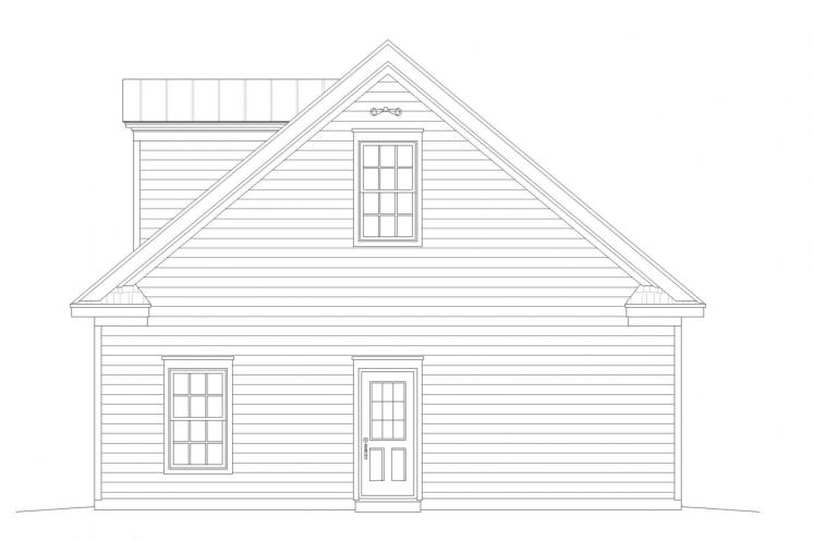 Country Garage Plan -  50962 - Right Exterior