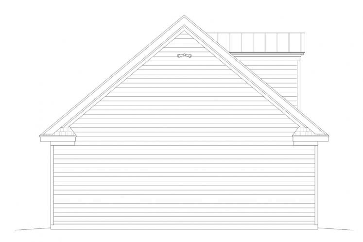 Traditional Garage Plan -  50962 - Left Exterior