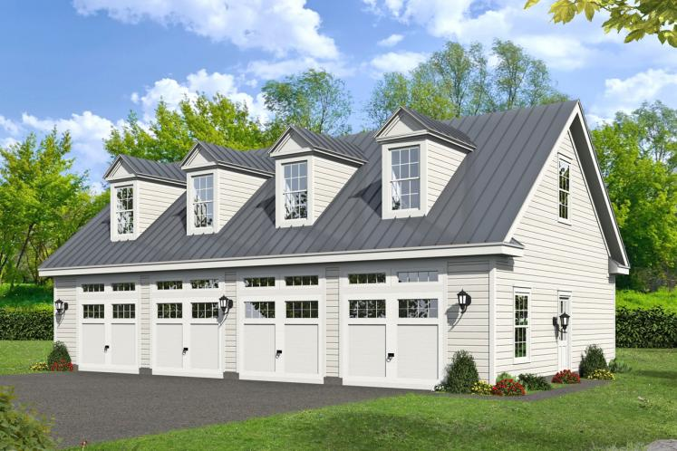 Country Garage Plan -  50962 - Front Exterior