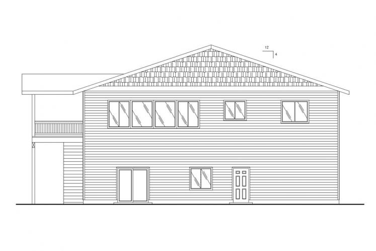 Traditional House Plan -  51024 - Rear Exterior