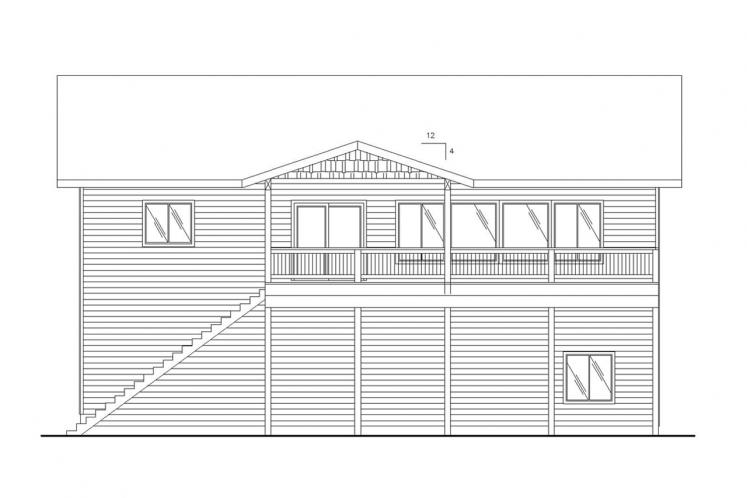 Country House Plan -  51024 - Right Exterior