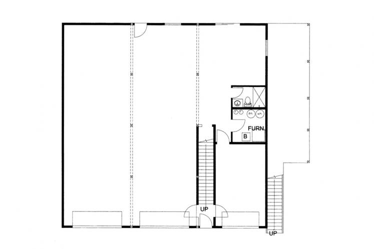 Traditional House Plan -  51024 - 1st Floor Plan