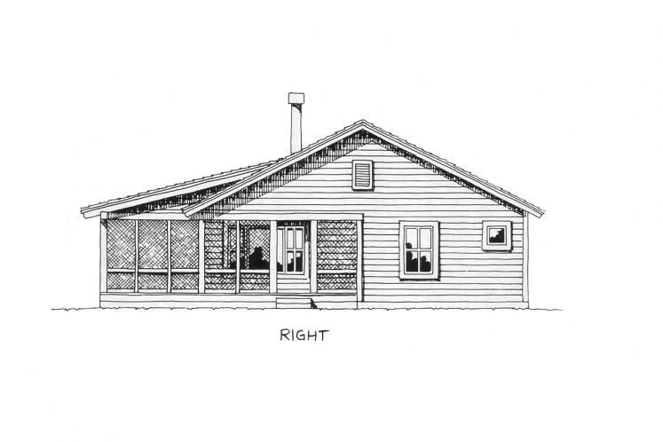 Traditional House Plan - Bunkhouse 51047 - Right Exterior