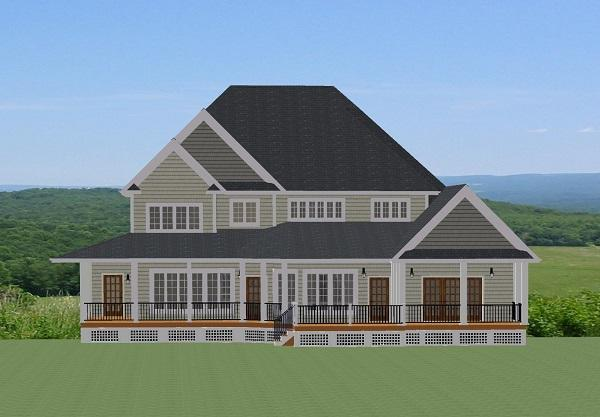 Country House Plan - Edgerton 51082 - Rear Exterior