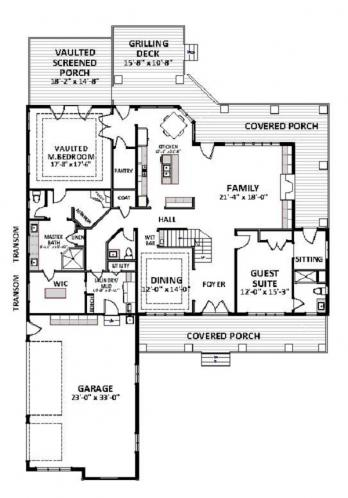 Farmhouse House Plan - Edgerton 51082 - 1st Floor Plan