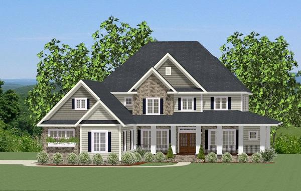 Farmhouse House Plan - Edgerton 51082 - Front Exterior