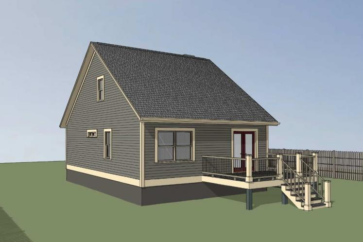 Country House Plan -  51101 - Right Exterior