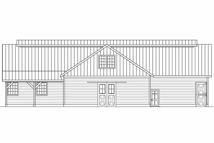 Country  - Barn 51127 - Right Exterior
