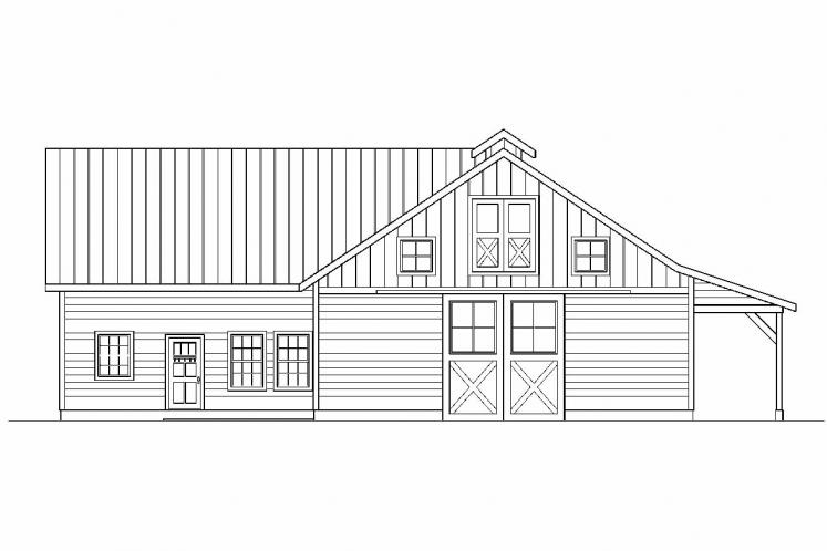 Country  - Barn 51127 - Rear Exterior