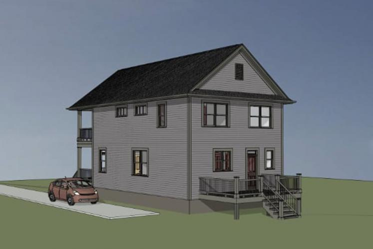 Country House Plan -  51220 - Right Exterior