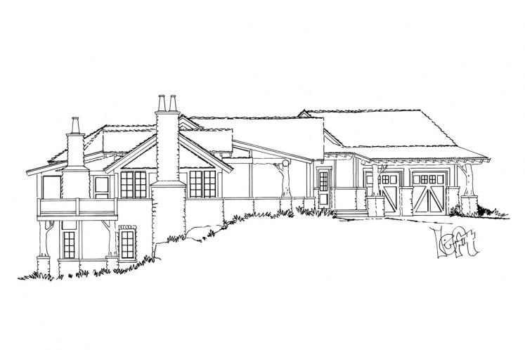 Traditional House Plan - White Oak 51261 - Left Exterior
