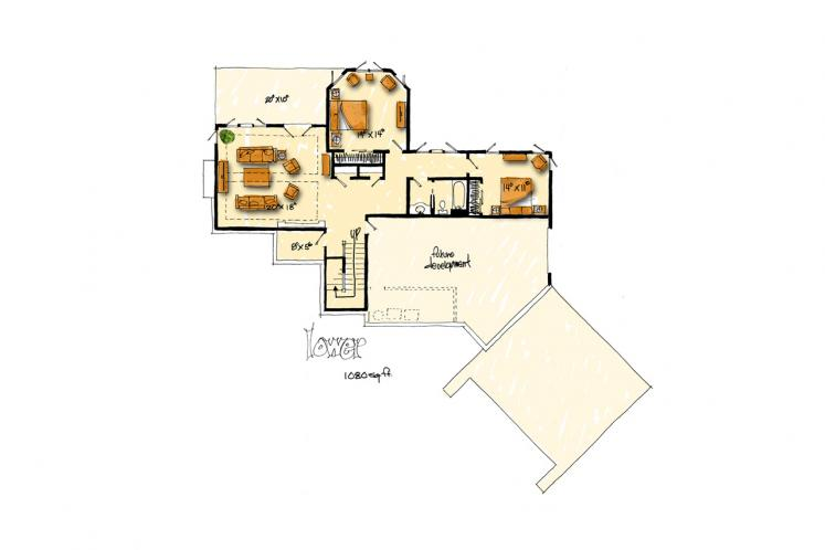 Traditional House Plan - White Oak 51261 - 2nd Floor Plan