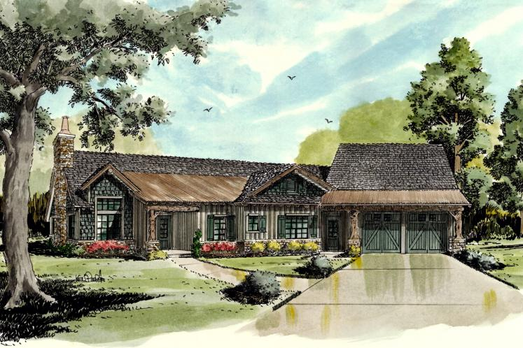 Bungalow House Plan - White Oak 51261 - Front Exterior