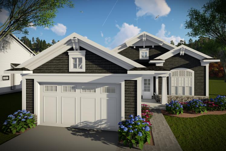 Ranch House Plan -  51301 - Front Exterior
