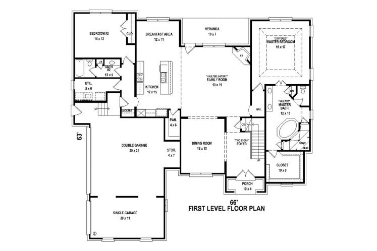 Classic House Plan -  51317 - 1st Floor Plan