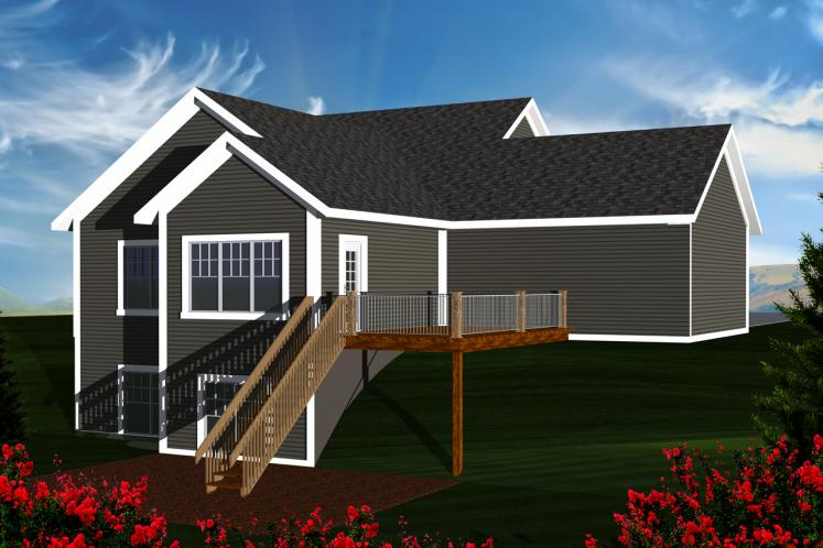 Cape Cod House Plan -  51364 - Rear Exterior