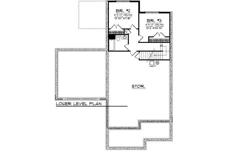 Craftsman House Plan -  51364 - Basement Floor Plan