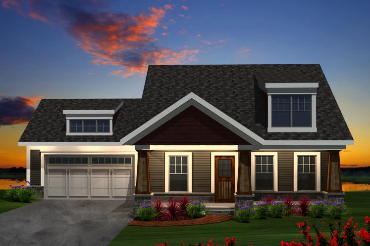 Craftsman House Plan -  51364 - Front Exterior
