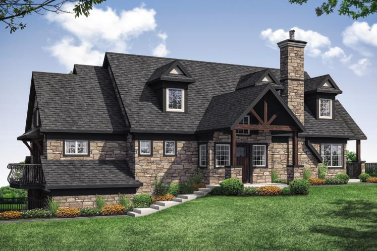 Lodge Style House Plan - Stonegate 51484 - Front Exterior