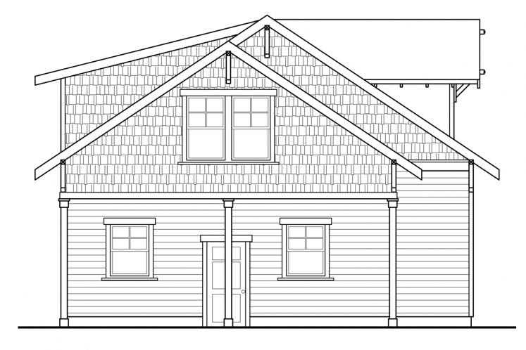 Traditional Garage Plan -  51505 - Left Exterior
