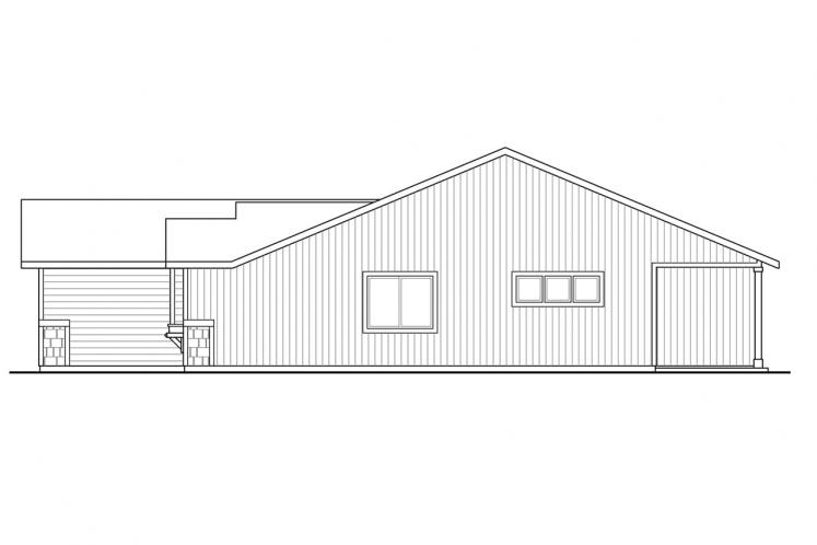 Ranch House Plan - Foster 51533 - Right Exterior