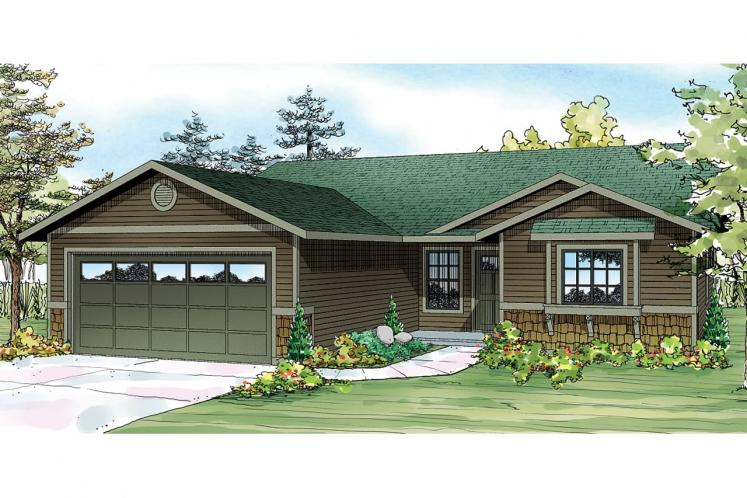 Ranch House Plan - Foster 51533 - Front Exterior
