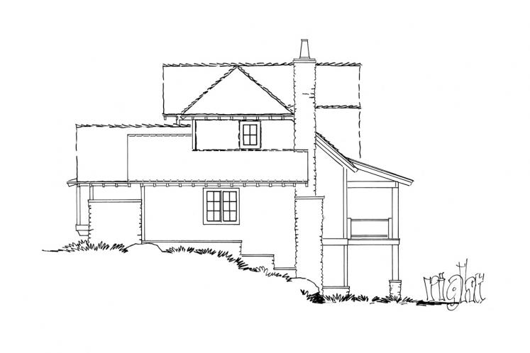 Country House Plan - Fall River II 51674 - Right Exterior