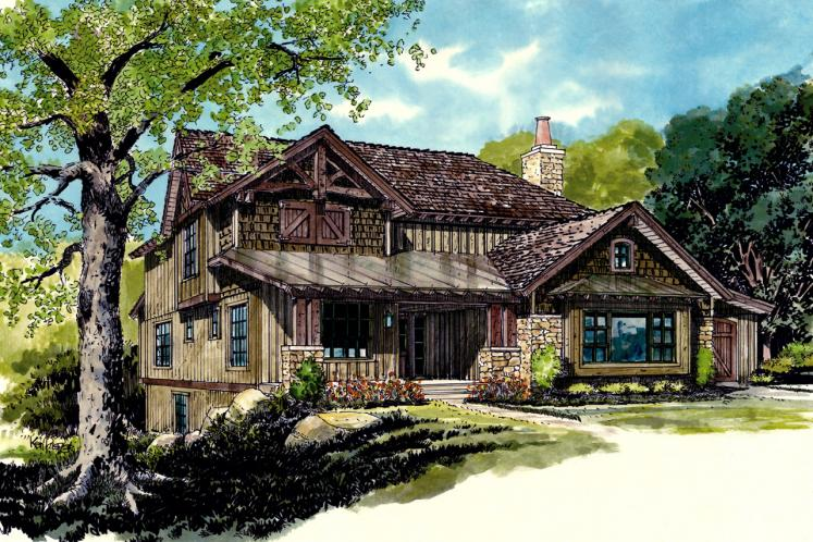 Country House Plan - Fall River II 51674 - Front Exterior