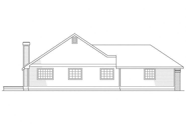 Ranch House Plan - Akron 51816 - Left Exterior