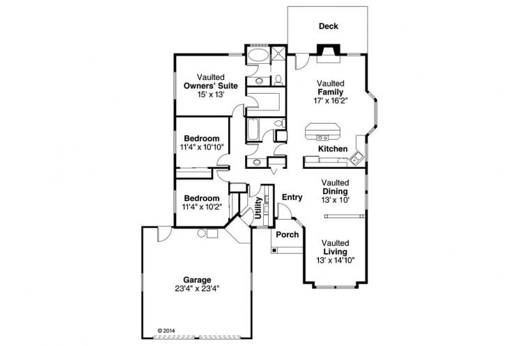 Contemporary House Plan - Akron 51816 - 1st Floor Plan