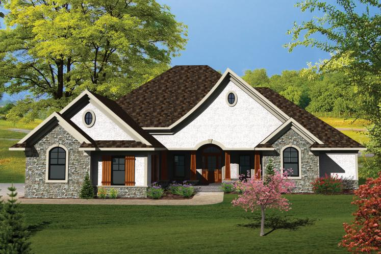 Country House Plan -  51822 - Front Exterior