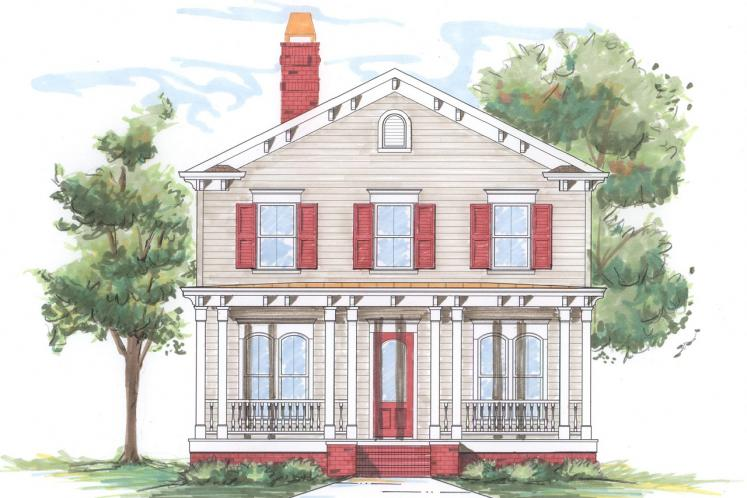 Classic House Plan -  51836 - Front Exterior