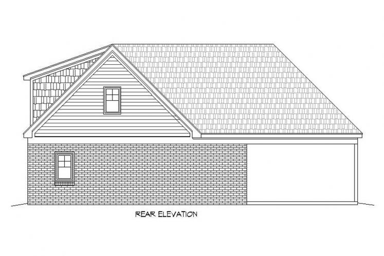 Southern House Plan -  51901 - Rear Exterior