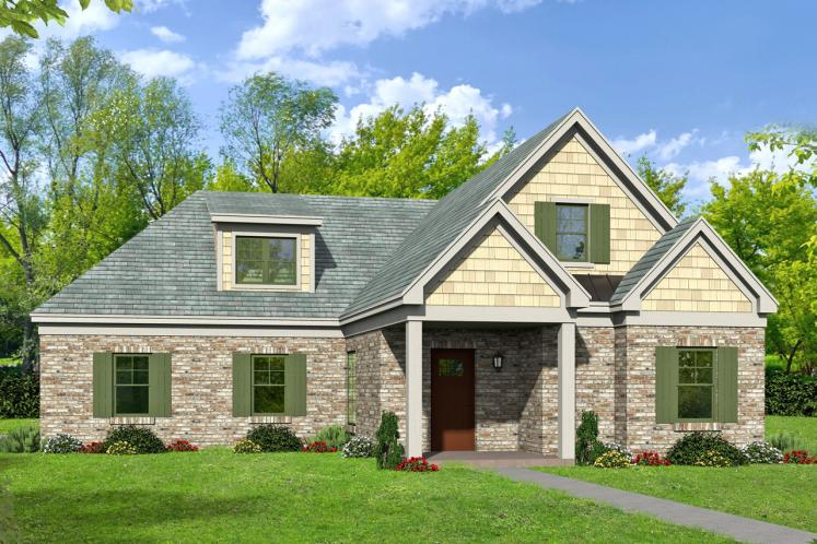 Traditional House Plan -  51901 - Front Exterior