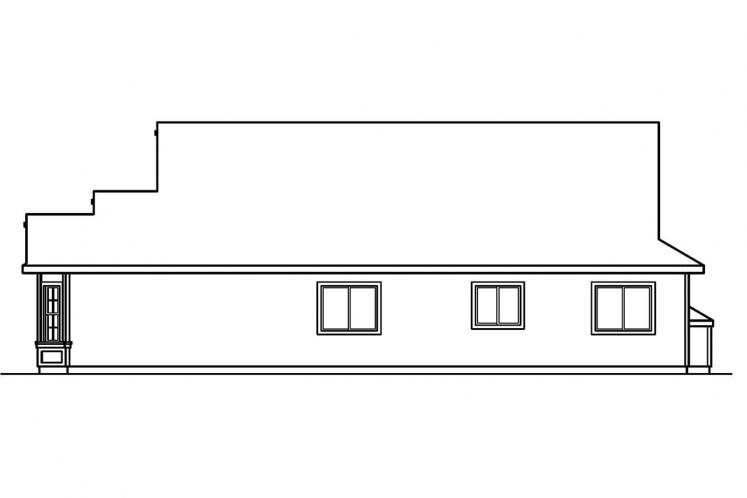 Traditional House Plan - Ashland 52008 - Right Exterior